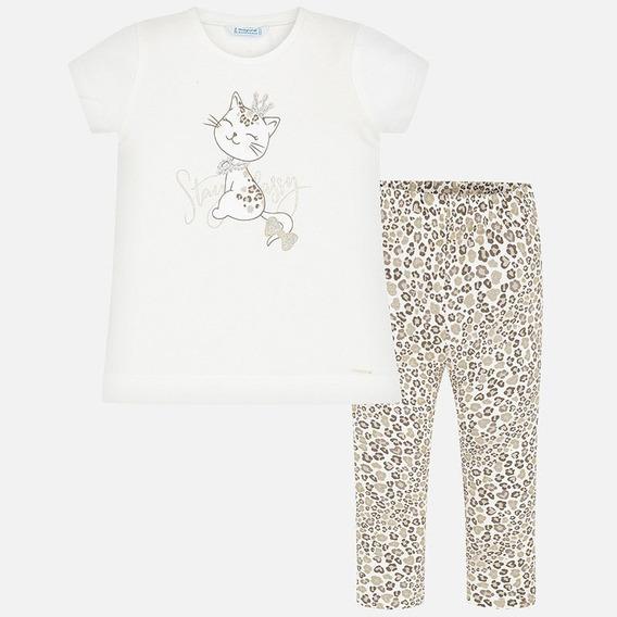 Conjunto Gatita Camiseta Y Leggings