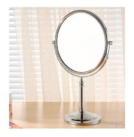 Espejo 3x Aumento Giro 360 Doble Faz Maquillaje Afeitado