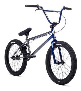 Bicicleta Bmx Stolen Stereo ¡azul Raw Fade! Cubiertas Anchas