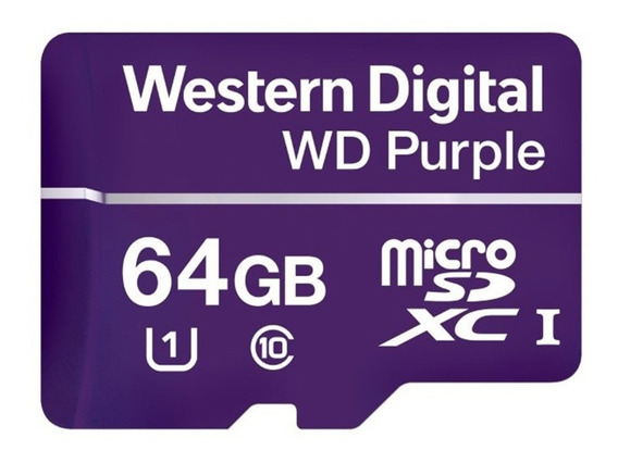 Cartão Micro Sd 64 Gb Intelbras Purple