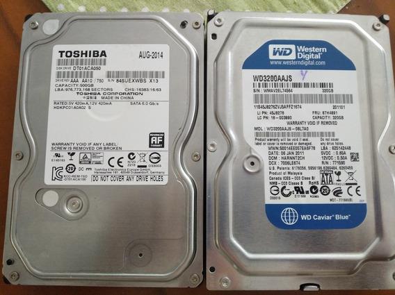 2 Discos Duros Internos Nuevos500gb Y 320gb