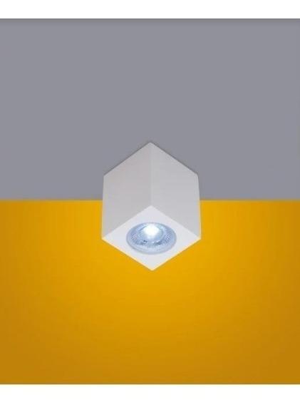 Spot Sobrepor Quadrado Cubo Branco 1 Luz Dicroica Gu10 Prime