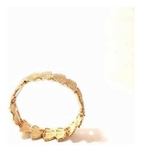 Pulseira Bracelete Feminina Sereia Em Banho De Ouro Puro