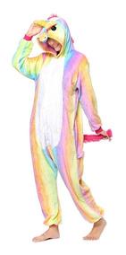 Kigurumi Pijama Fantasia Unicórnio Colorido Pronta Entrega!
