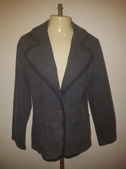 Blazer Jeans Escuro, Usado