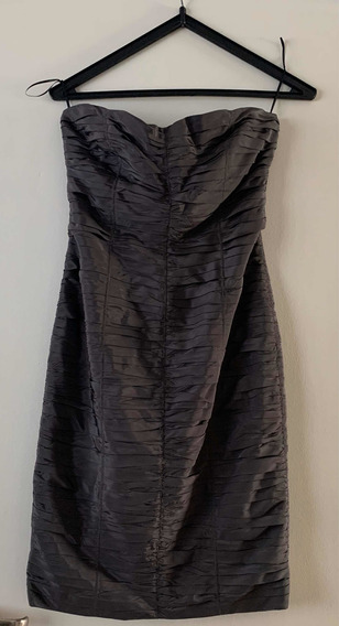 Vestido Chocolate Strapless Color Gris T42 Fiesta