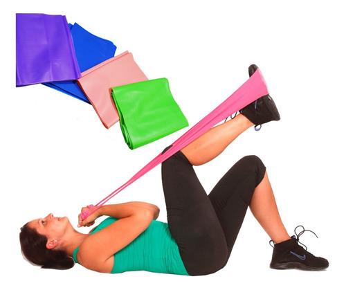 Imagen 1 de 8 de Banda Elástica Tipo Theraband Colores Gym Yoga Rehabilita Of