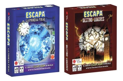Escape Room Escapa Combo Juegos De Cartas Top Toys Lelab