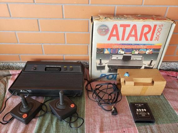 Atari 2600 Console Na Caixa Funcionando