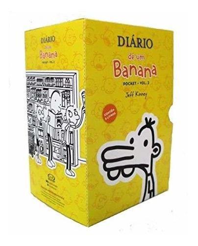 Box Diário De Um Banana Pocket Contém 5 Livros Vol. 2