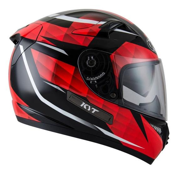 Casco Integral Kyt Venom Diamond Black/red En Teo Motos
