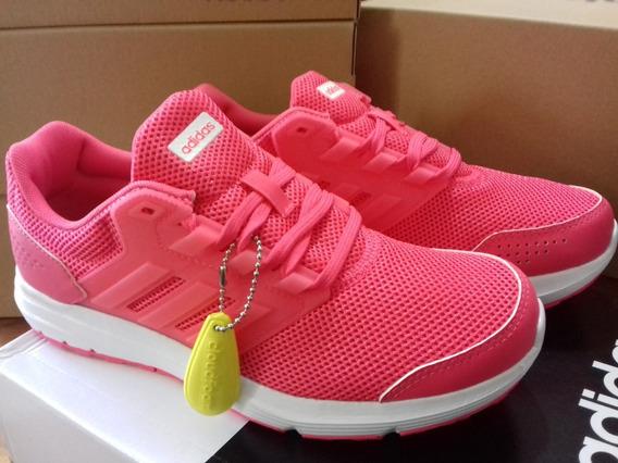 Tenis adidas Rosas Modelo Galaxy 4 Nuevos Y Originales