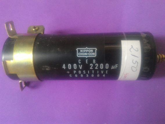 Capacitor Condensador 2200 Uf X 400 V