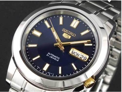 Relógio Seiko 5 Militar/ Automático Pulseira D Aço Snkk 11k1