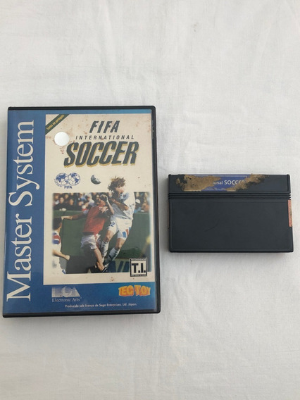 Master System : Fifa Internacional Soccer Com Caixa Locadora