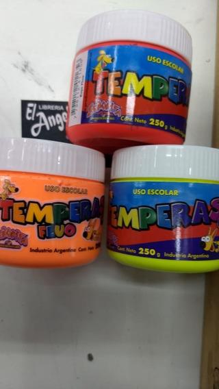 Tempera Fluo Pote 250 Ml Varios Colores Marca Temple