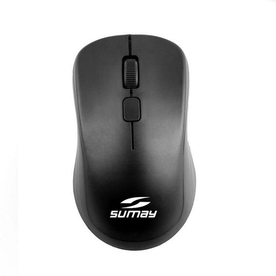 Mouse Óptico Com Fio Sumay 1309 Preto
