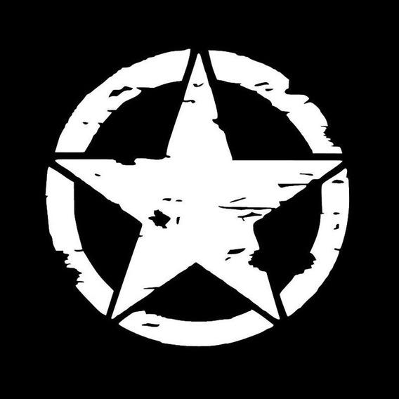 3 Adesivo Estrela Militar Corroída Jeep - Envio Grátis
