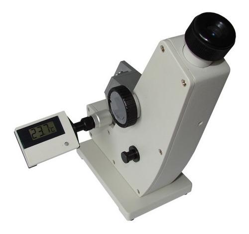 Imagen 1 de 2 de Refractómetro Tipo Abbe 0 - 90% Brix C/ Termómetro Digital