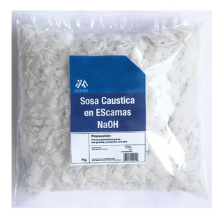 1 Kg Sosa Caustica Escamas Hidroxido De Sodio Al 99%