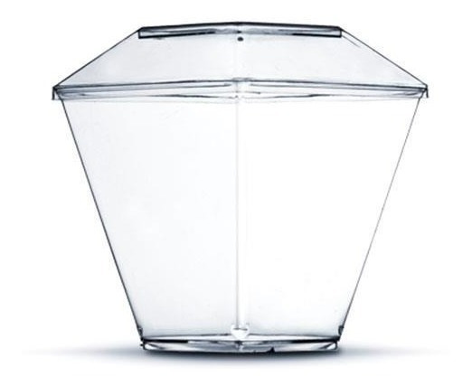 Copo Pic 151 Taça Acrílica Diamante 150ml C/ Tampa 100un