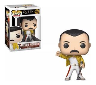 Funko Pop Queen Freddie Mercury Campera Amarilla 96 Nuevo!