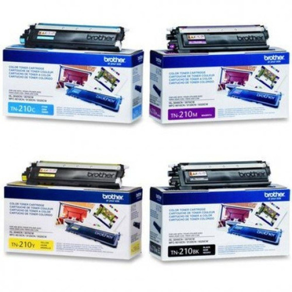 Kit Toner Brother Tn210 Colorido Original