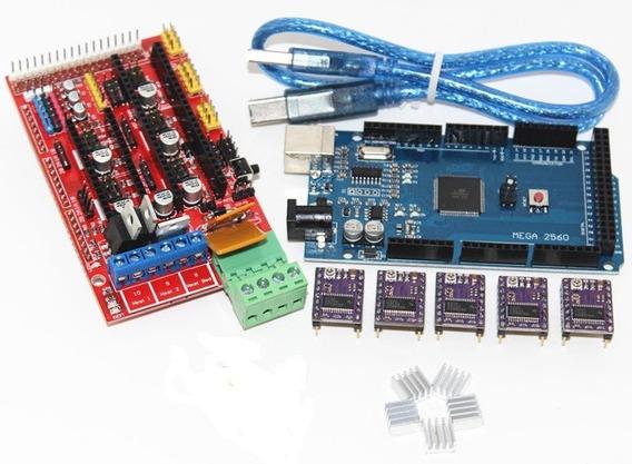 Kit Ramps 1.4 + 5 Drv8825 + Arduino Mega