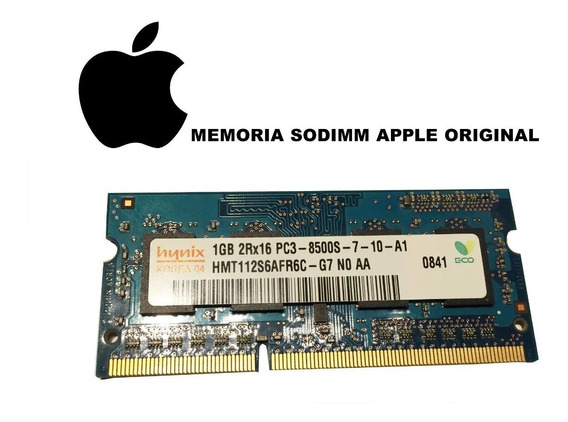 Memoria Sodimm 1gb Ddr3 1066 Pc3-8500 Apple