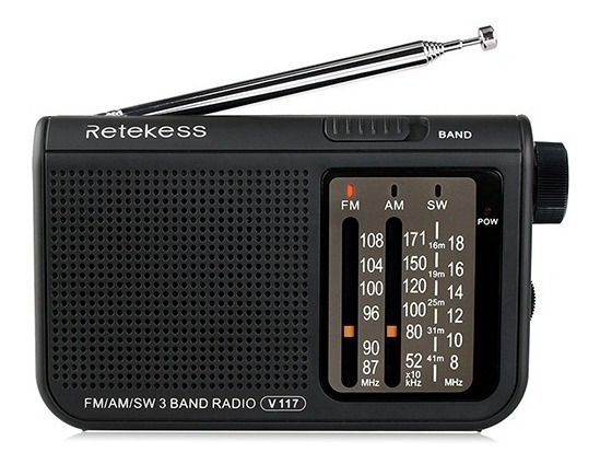 Rádio Retekess V-117 Am/fm/sw Cor Preta Importado
