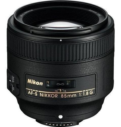 Lente Nikon Af-s 85mm F/1.8g + Nf E Garantia 1 Ano