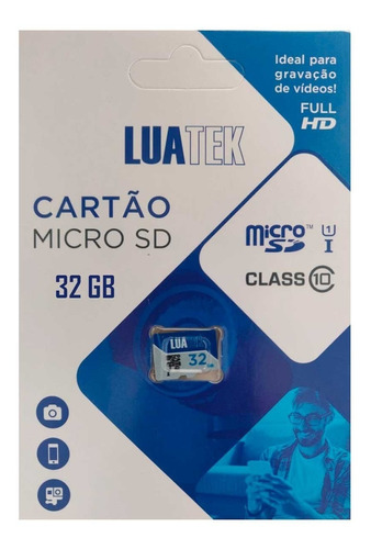 Imagem 1 de 3 de Cartão De Memoria 32gb Micro Sd Classe 10 80mbs Luatek
