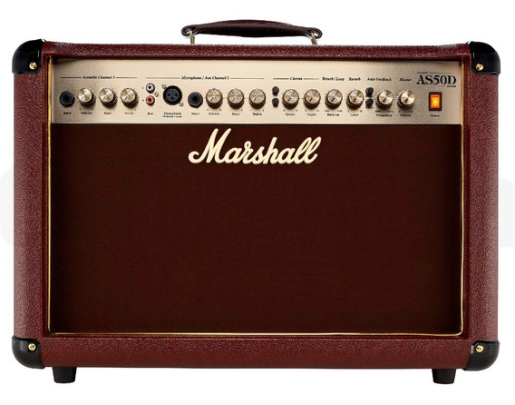Amplificador Guitarra Acústica Marshall As50d Marrón
