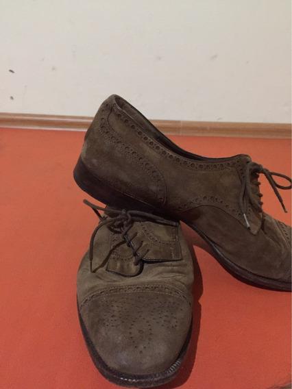 Zapatos Frattelli Rossetti De Ante Color Miel, Made In Italy