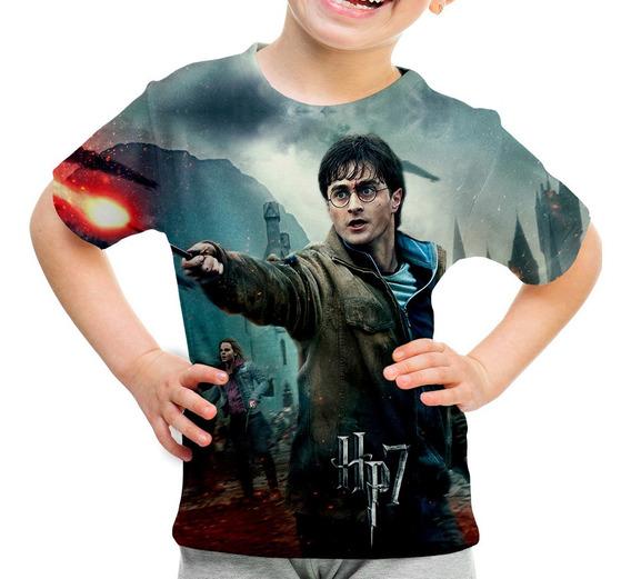 Camiseta Infantil Filme Trilogia Harry Potter Md02