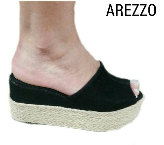 Tamanco Anabela Arezzo 34 Ao 39 Leve,confortável.(fôrma Peq)