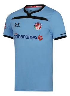 Jersey Under Armour Futbol Toluca Tercero Fan 19/20 Azul