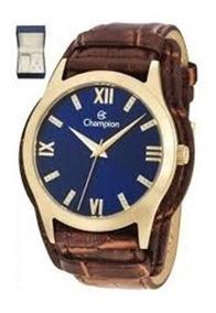 Relógio Champion Feminino Pulseira Couro Cn20346k - Original