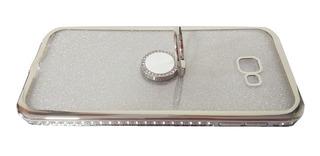 Capinha Celular Samsung J4 Plus Prata Silicone Case Capa J4