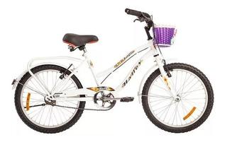 Bicicleta Halley Rodado 20 Playera Dama Lujo Con Canasto