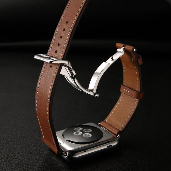 Pulseira Apple Watch Couro Legitimo Tour Hermès 42mm 44mm