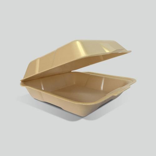 Contenedor Liso Biodegradable Reyma® 8x8  Fecula De Maiz