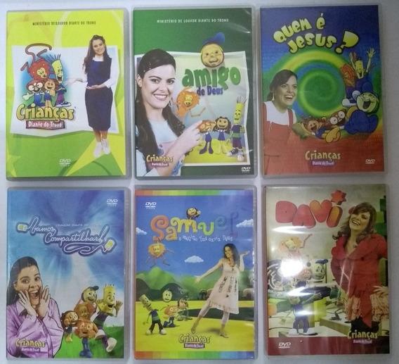 Kit Dvd Crianças Diante Do Trono Vols 1 2 3 4 6 E 7 Lacrados