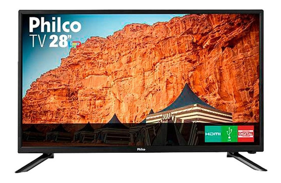 Tv Led 28 Polegadas Philco Ph28n91d Hd Usb Hdmi Preta Bivolt