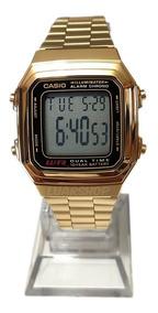 Relogio Casio Digital A178wga Dourado - Caixa Original