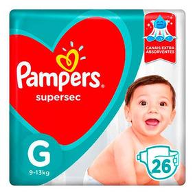 Kit 5 Pacote Fralda Pampers Supersec G + 5 Pacote Tamanho Xg