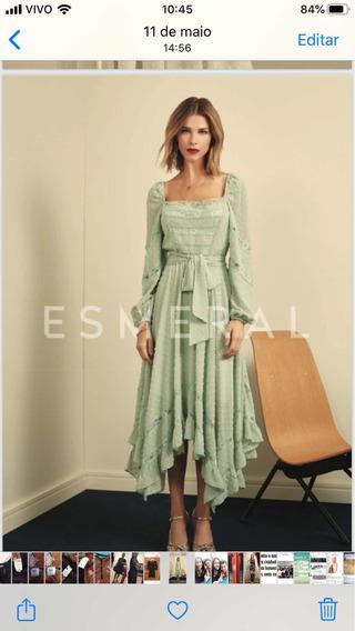 Vestido G, Novo Com Tag - Esmeral