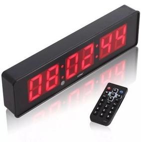 Cronometro Relógio Led Digital Parede Ou Mesa - Barato