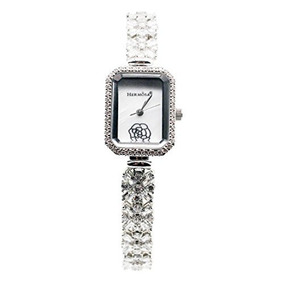 b61ba1d3ca84 Moda Mujeres Reloj De Pulsera Plata De Ley 925 topaz Gemsto