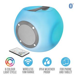 Parlante Bluetooth Trust Lara Con Luces Led Y Control Remoto